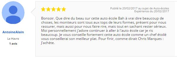 commentaire antoine